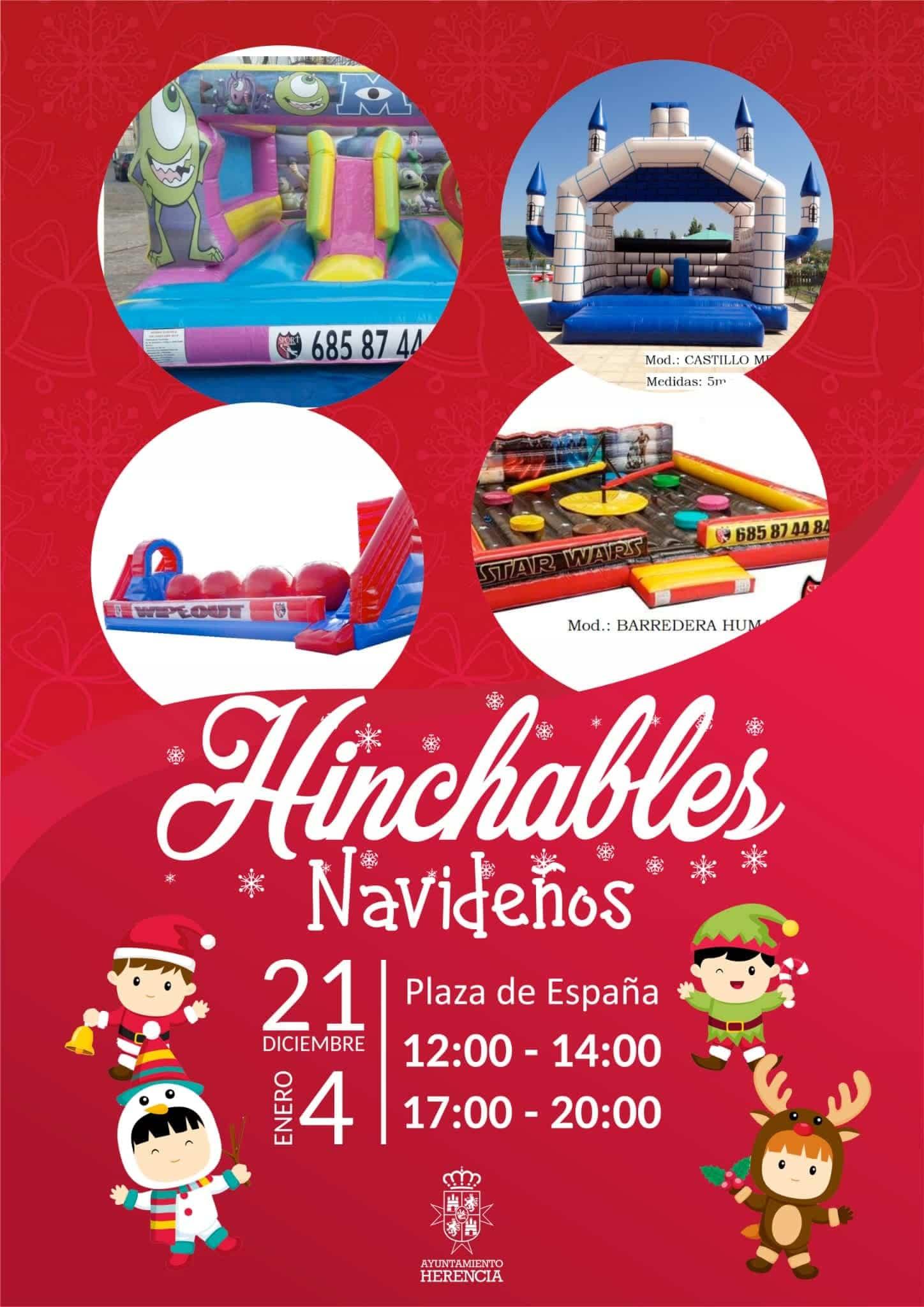 hinchables navidad - Esta navidad hinchables en la Plaza de España de Herencia