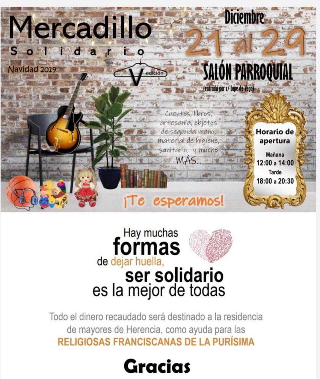 mercadillo solidario 2019 herencia 1068x1263 - Mercadillo Solidario en Herencia esta navidades