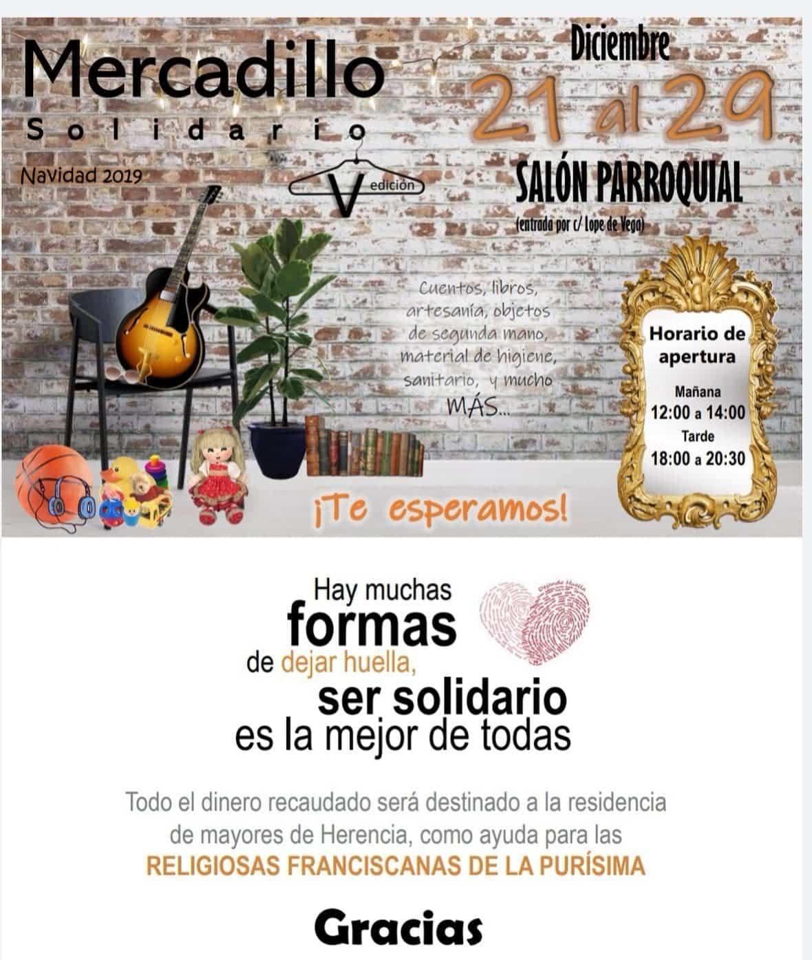 mercadillo solidario 2019 herencia - Mercadillo Solidario en Herencia esta navidades