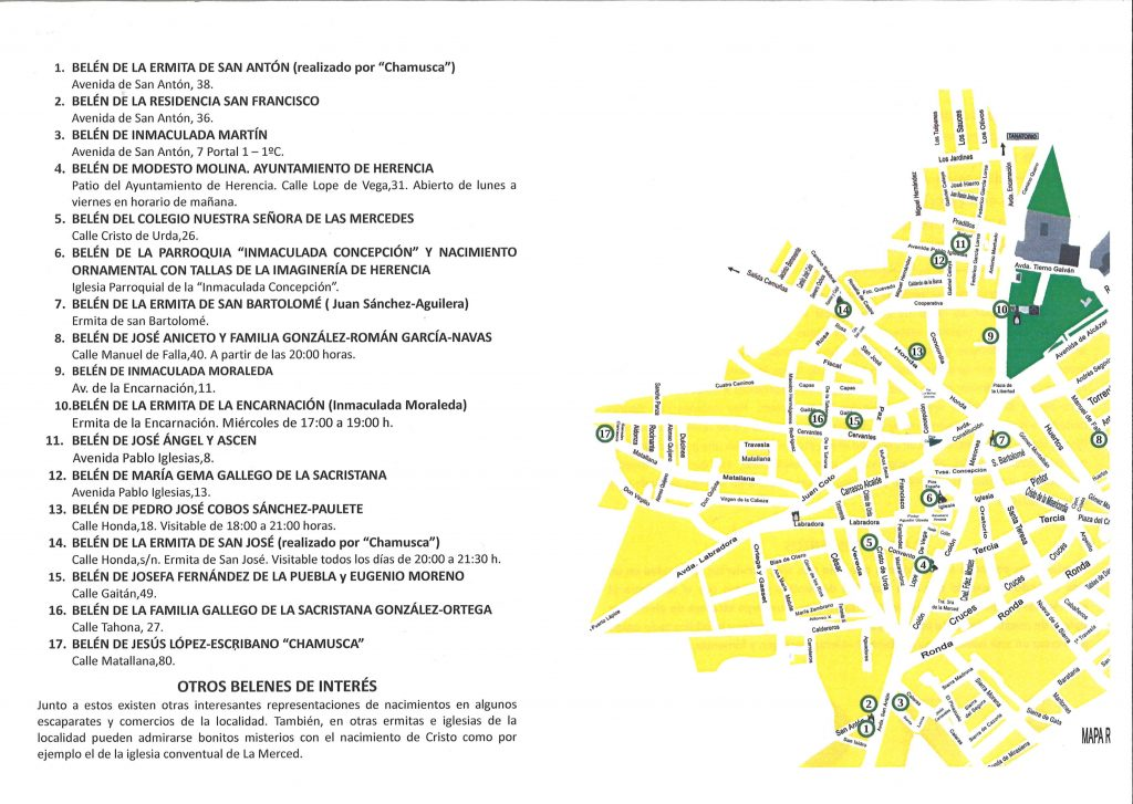 plano de situación 1024x727 - Ya puedes realizar la ruta de la quinta muestra de belenes populares de Herencia