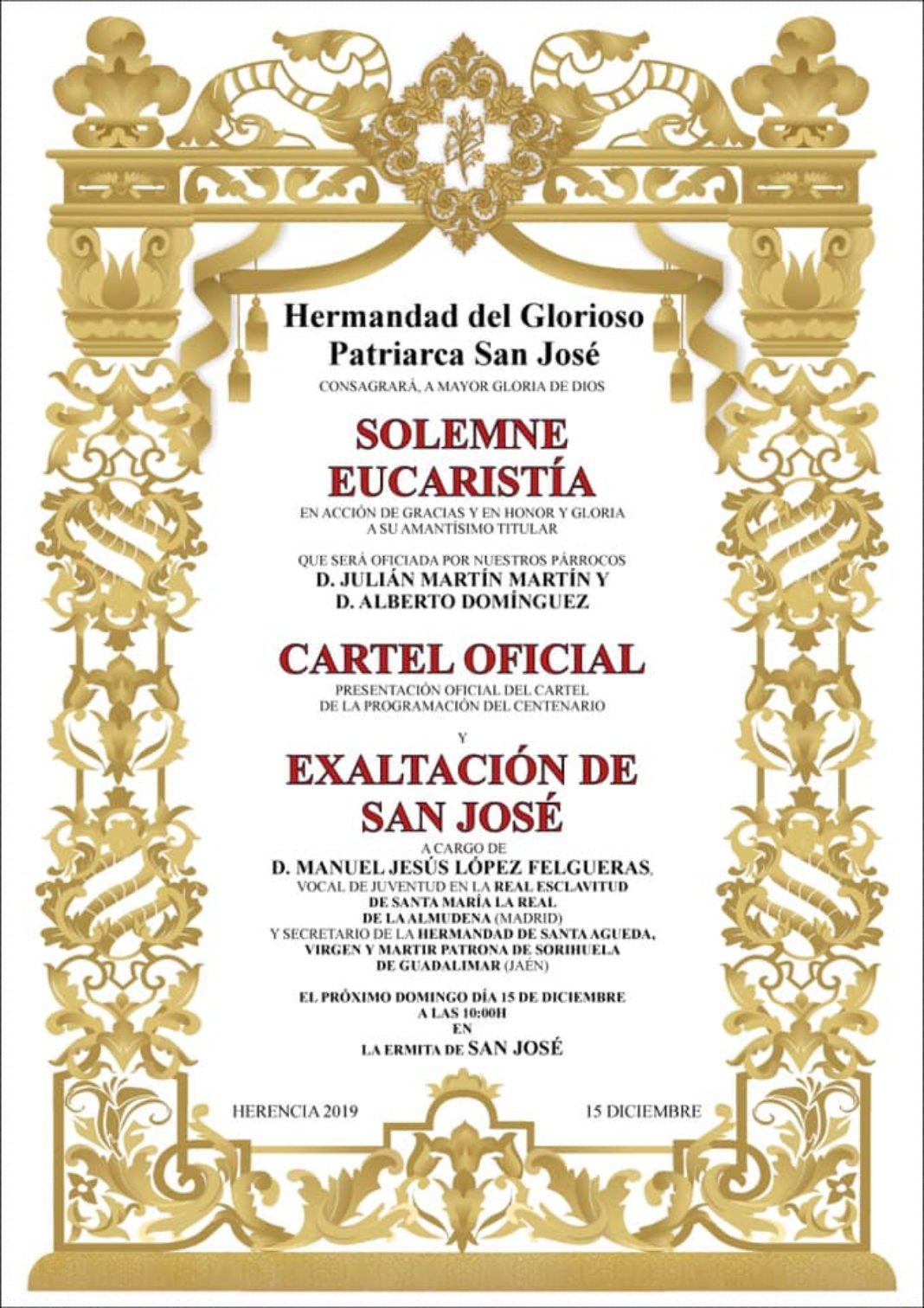 presentación cartel y programacion centenario de San José 1068x1512 - Acto de presentación del cartel y programación del centenario de la hermandad de San José