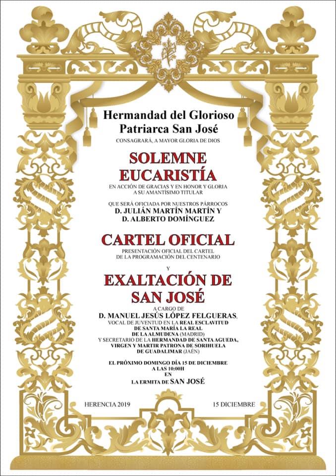 presentaci%C3%B3n cartel y programacion centenario de San Jos%C3%A9 - Acto de presentación del cartel y programación del centenario de la hermandad de San José