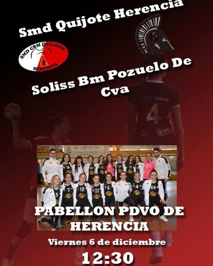 sms quijote herencia vs soliss bm pozuelo cva - SMD Quijote Herencia frente al Soliss Bm Pozuelo de Cva este 6 de diciembre