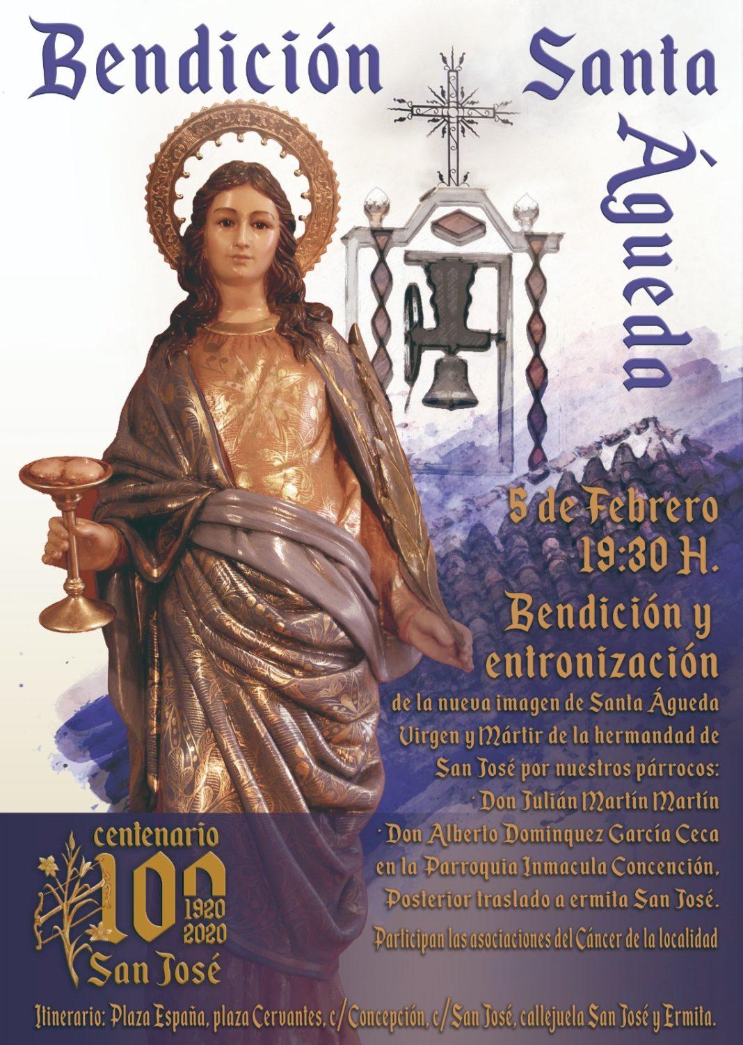 Bendición de la nueva imagen de Santa Águeda 1068x1503 - Bendición y entronización de la nueva imagen de Santa Águeda