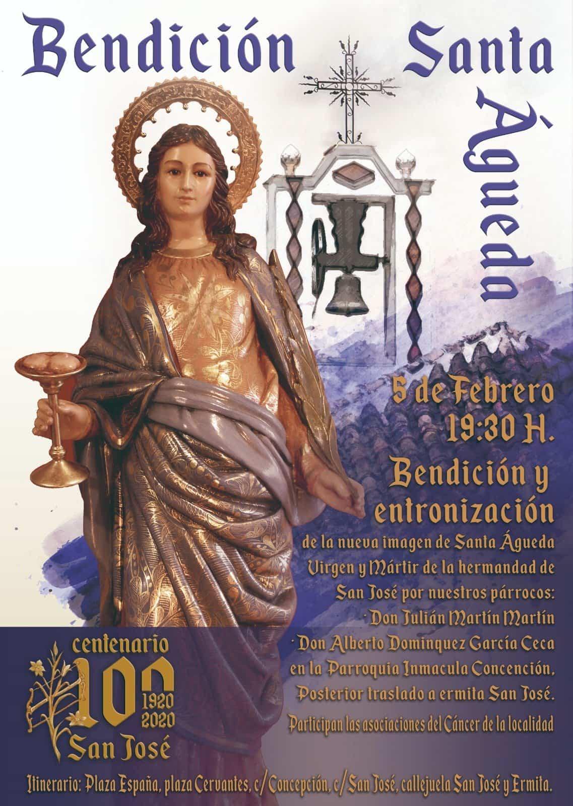 Bendición de la nueva imagen de Santa Águeda - Bendición y entronización de la nueva imagen de Santa Águeda
