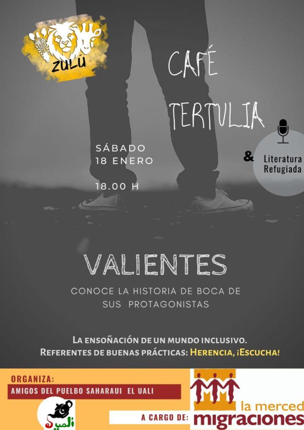 """Café tertulia Valientes refugiados 1068x1511 - """"Valientes"""", café-tertulia sobre personas refugiadas el sábado 18 de enero en Herencia"""