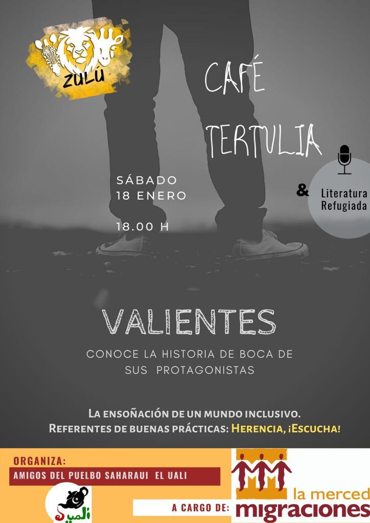 """Café tertulia Valientes refugiados - """"Valientes"""", café-tertulia sobre personas refugiadas el sábado 18 de enero en Herencia"""
