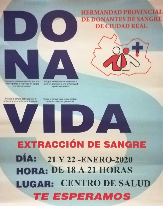 Campaña donantes de Sangre - Durante los días 21 y 22 de enero se podrá donar sangre en Herencia