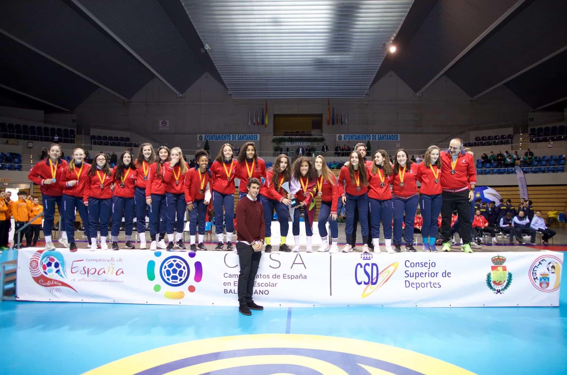 Herencia en el Campeonato de España de Balonmano Base 9