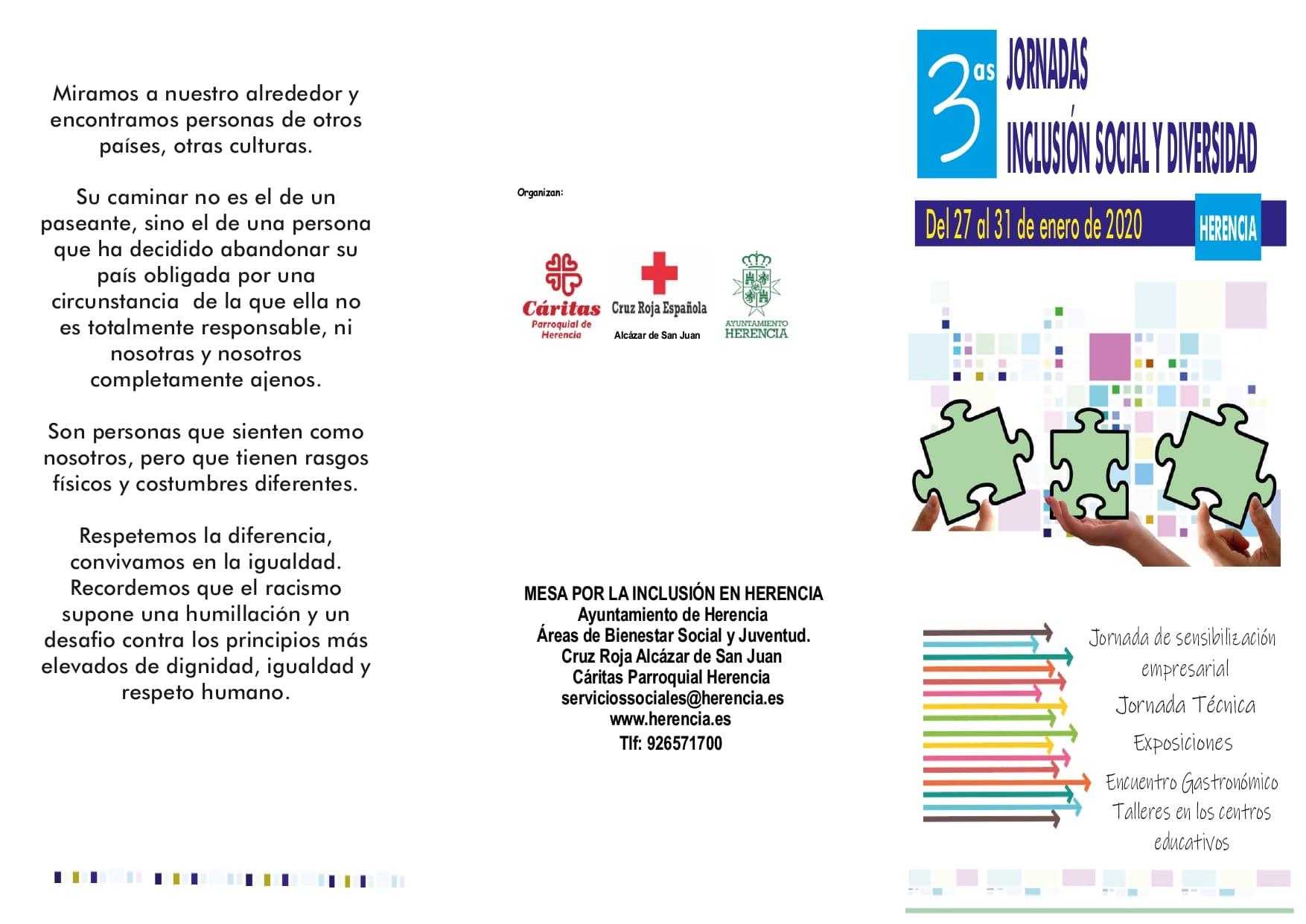 Cartel jornadas inclusion social diversidad page 0001 - Herencia presenta las III Jornadas de Inclusión Social y Diversidad