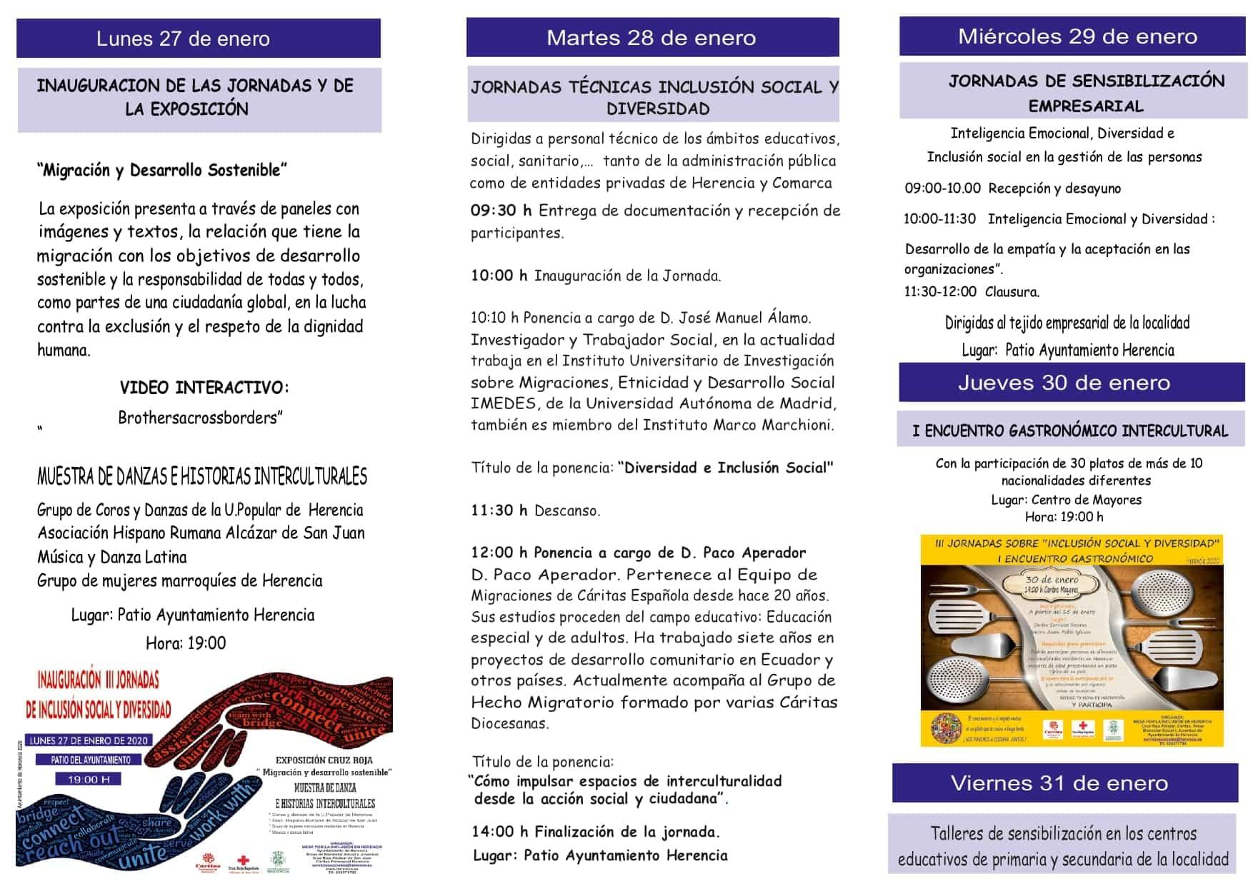 Cartel jornadas inclusion social diversidad page 0002 - Herencia presenta las III Jornadas de Inclusión Social y Diversidad