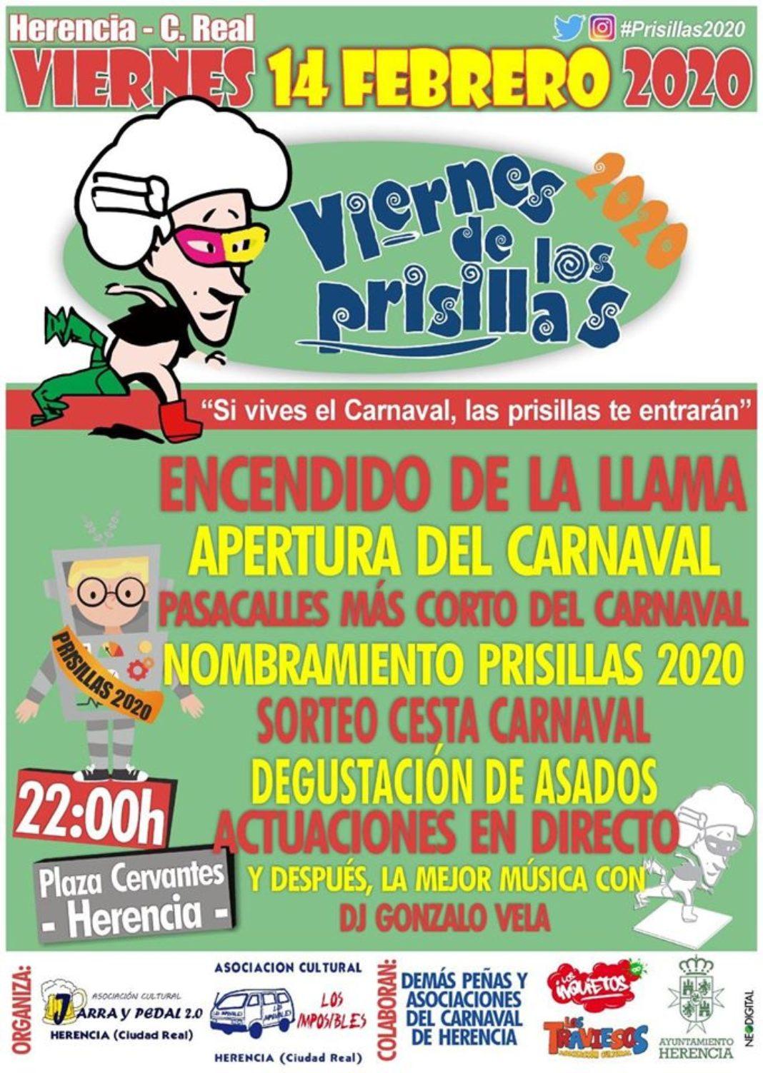 Viernes de los Prisillas 2020 1068x1503 - El Viernes de los Prisillas calentará los motores del Carnaval de Herencia el 14 de febrero