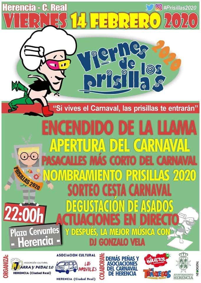 Viernes de los Prisillas 2020 - El Viernes de los Prisillas calentará los motores del Carnaval de Herencia el 14 de febrero