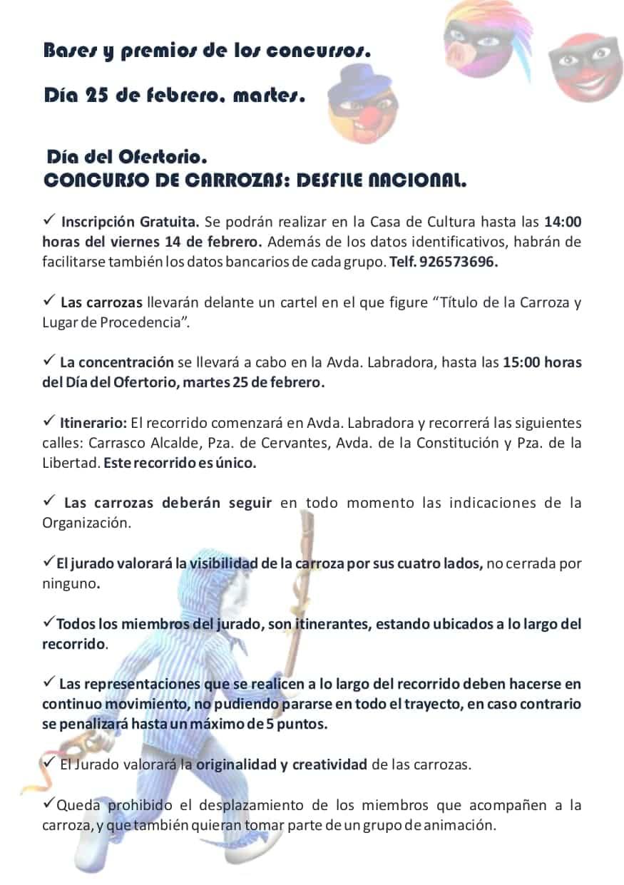 Publicadas las bases y premios de los concursos del Carnaval de Herencia 2020 13