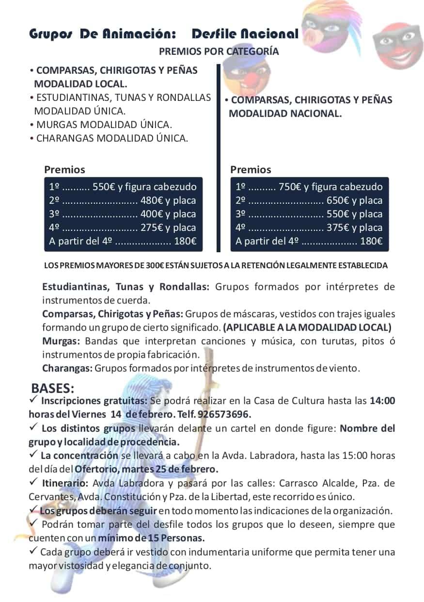 Publicadas las bases y premios de los concursos del Carnaval de Herencia 2020 15