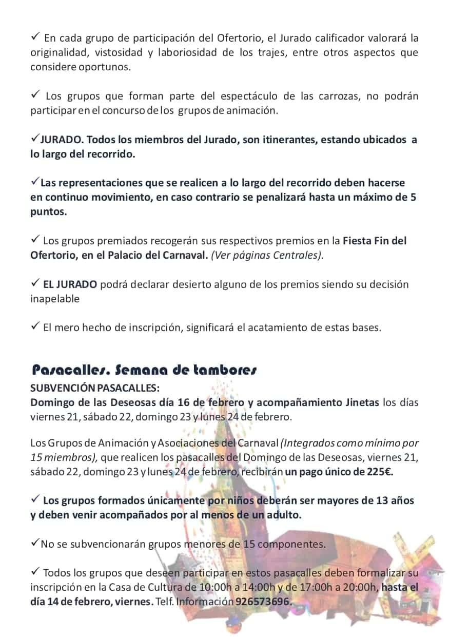 Publicadas las bases y premios de los concursos del Carnaval de Herencia 2020 16