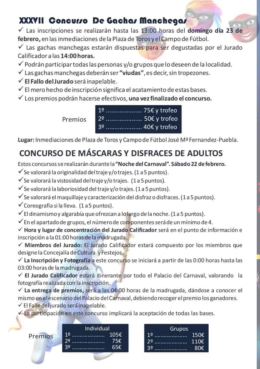 Publicadas las bases y premios de los concursos del Carnaval de Herencia 2020 17