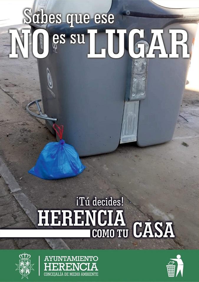 campa%C3%B1a de Herencia Limpia - El Ayuntamiento lanza una campaña para implicar a la ciudadanía en la limpieza del municipio