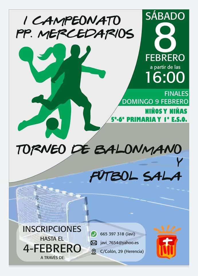 "campeonato padres mercedarios 2020 - Primer campeonato ""Padres Mercedarios"" de balonmano y fútbol sala"
