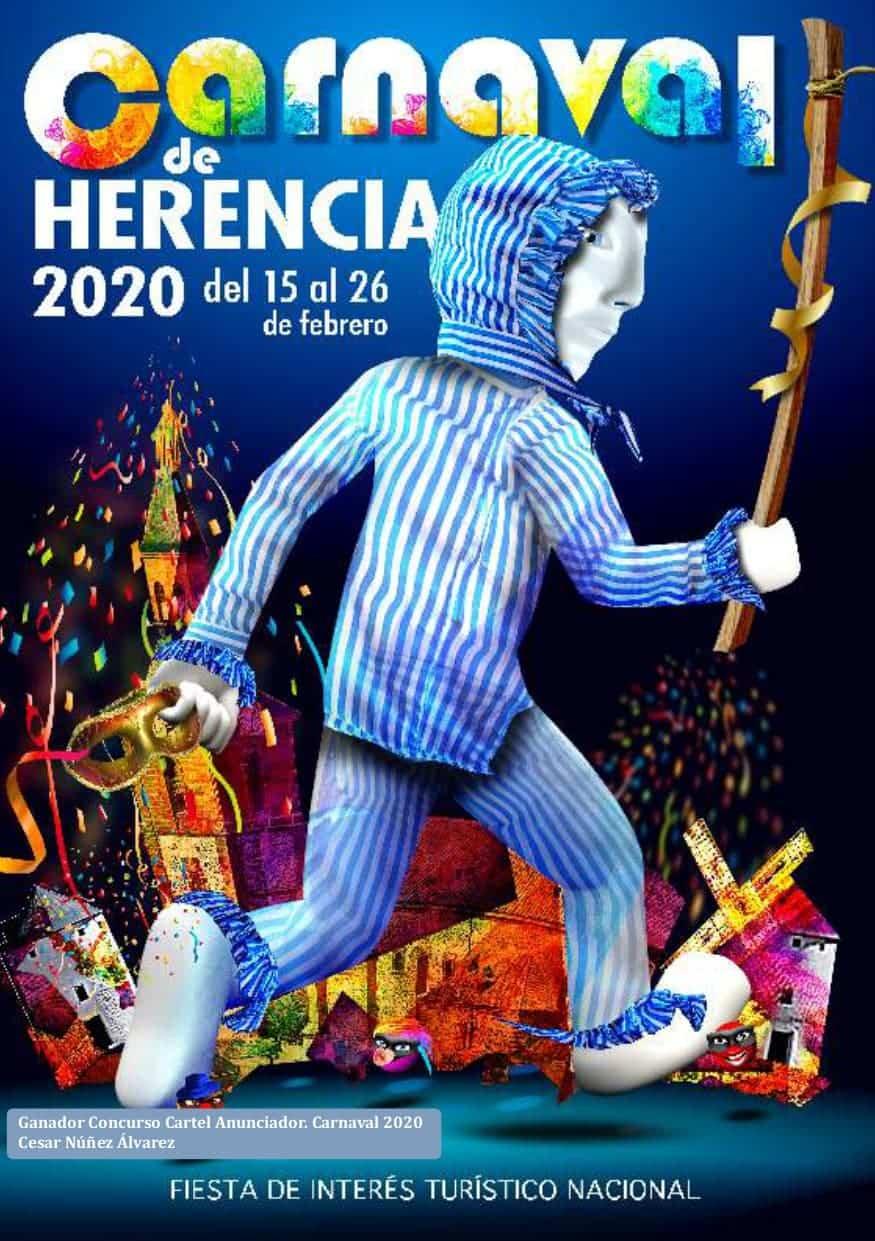 cartel carnaval de herencia 2020 - Publicadas las bases y premios de los concursos del Carnaval de Herencia 2020
