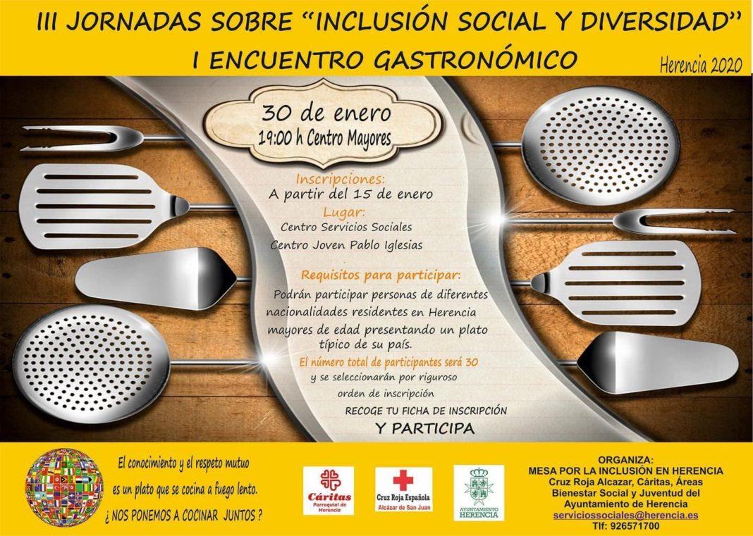 encuentro gastronomico inclusion social herencia 2020 1068x761 - I Encuentro Gastronómico dentro las Jornadas de Inclusión Social y diversidad
