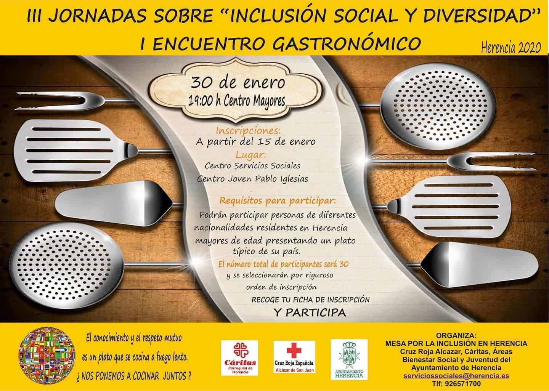 encuentro gastronomico inclusion social herencia 2020 - I Encuentro Gastronómico dentro las Jornadas de Inclusión Social y diversidad