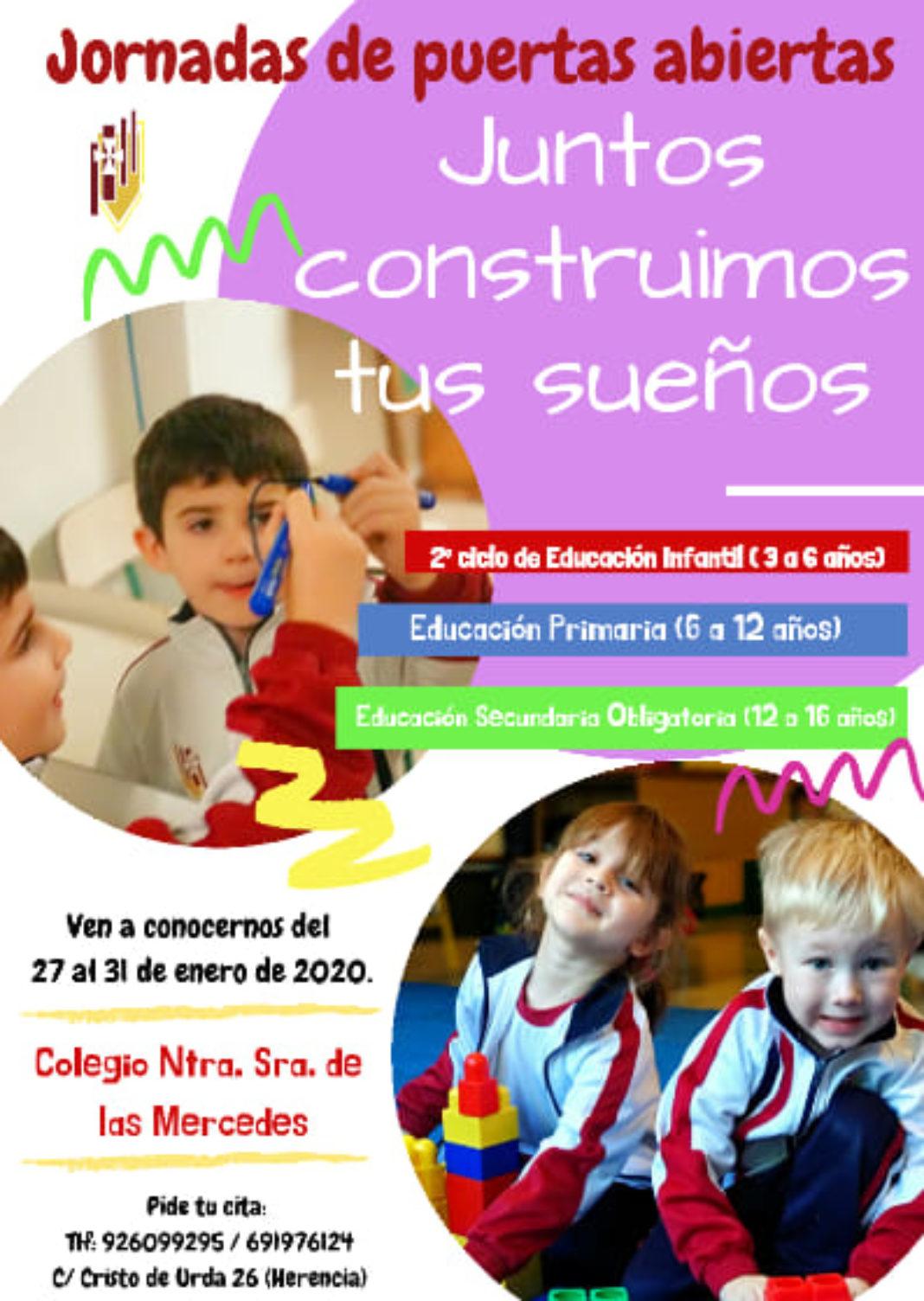 jornada de puertas abiertas colegio mercedarias 1068x1504 - Jornadas de puertas abiertas del colegio Nuestra Señora de las Mercedes