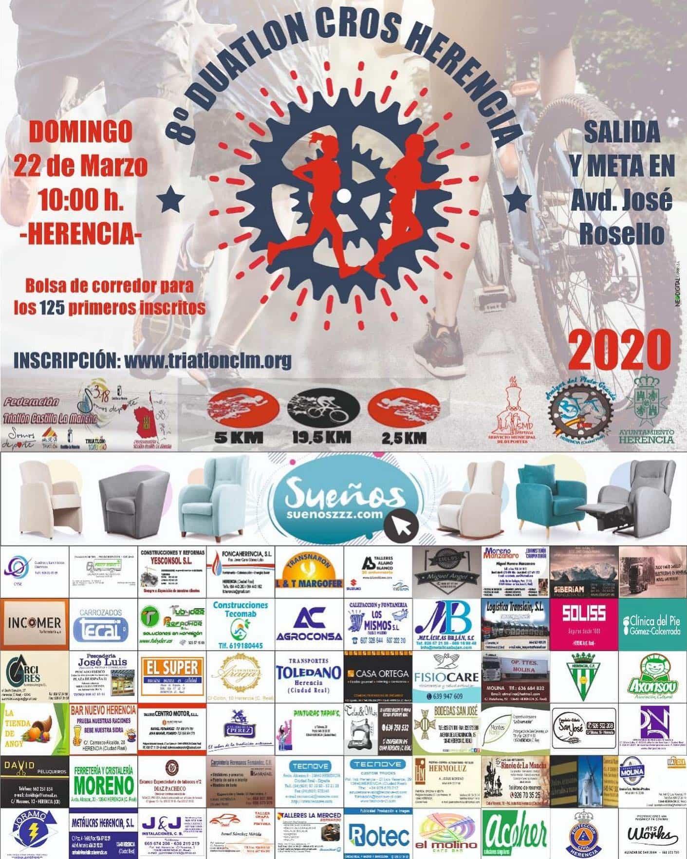 8 duatlon cross herencia 2020 - Abiertas las inscripciones para el 8º Duatlón-Cross en Herencia