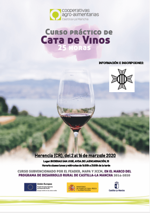 Cata de vinos. Herencia 2 16marzo 030220 - Curso práctico de cata de vinos en la cooperativa San José