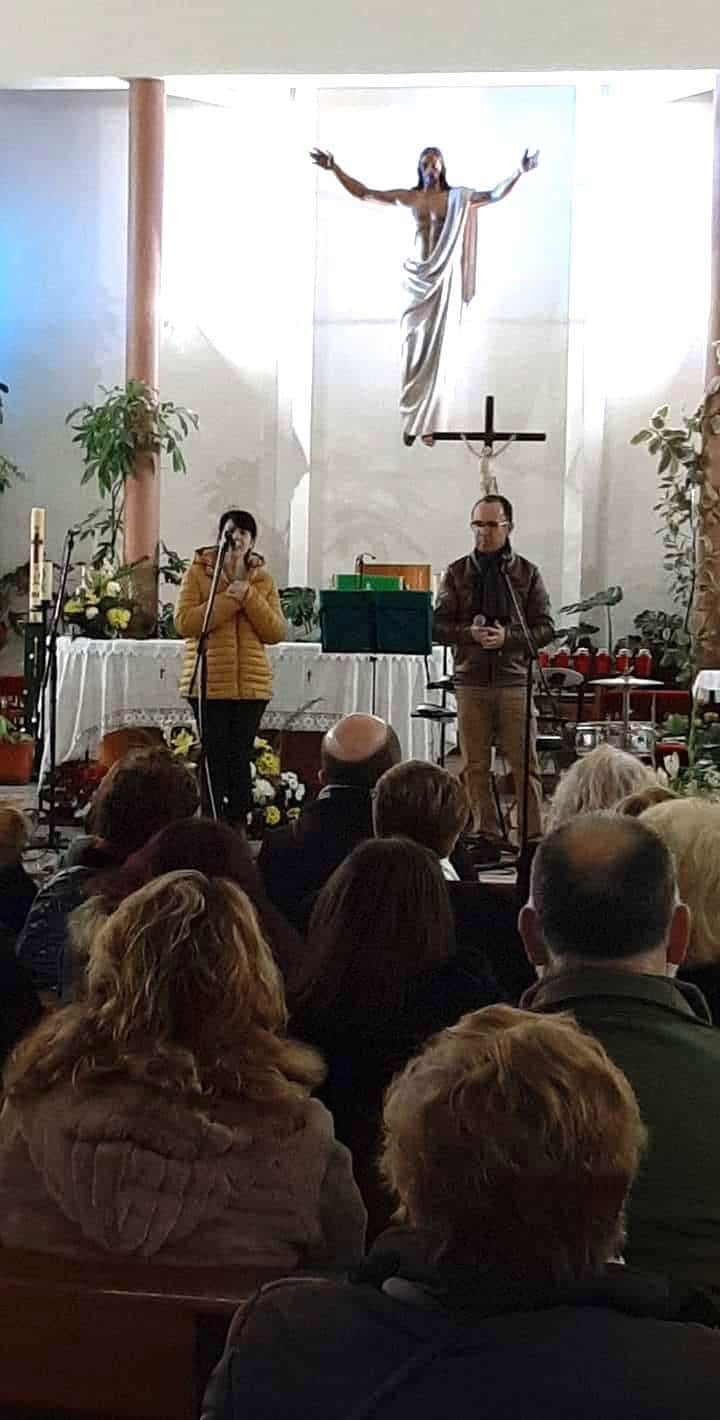 Cis Adar Miguel y Mariavi - Concierto de Cis Adar en la Residencia Nuestra Señora de la Merced de Herencia