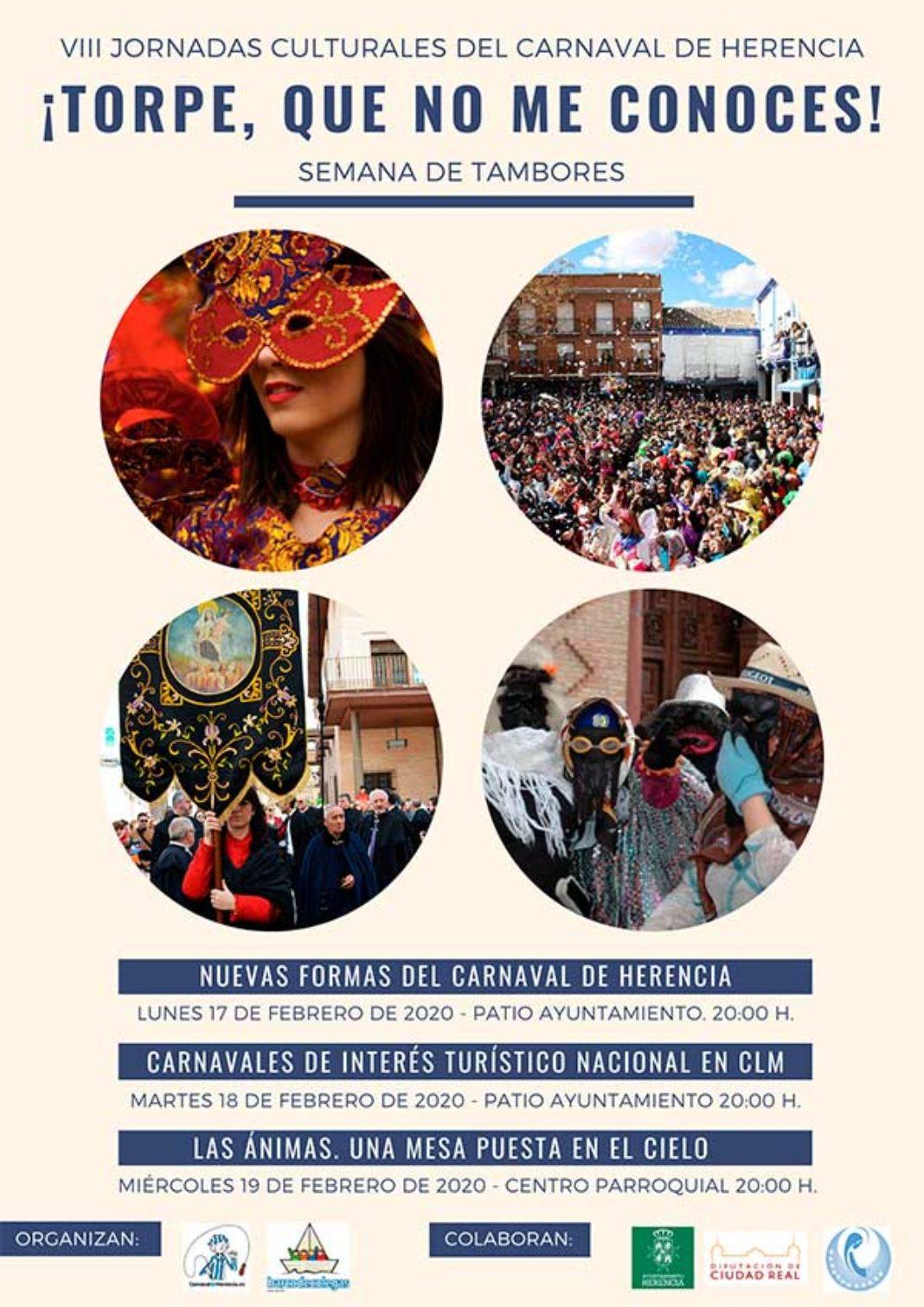 """VIII Jornadas Culturales Carnaval 2020 1068x1511 - VIII Jornadas Culturales del Carnaval de Herencia """"Torpe, que no me conoces"""""""