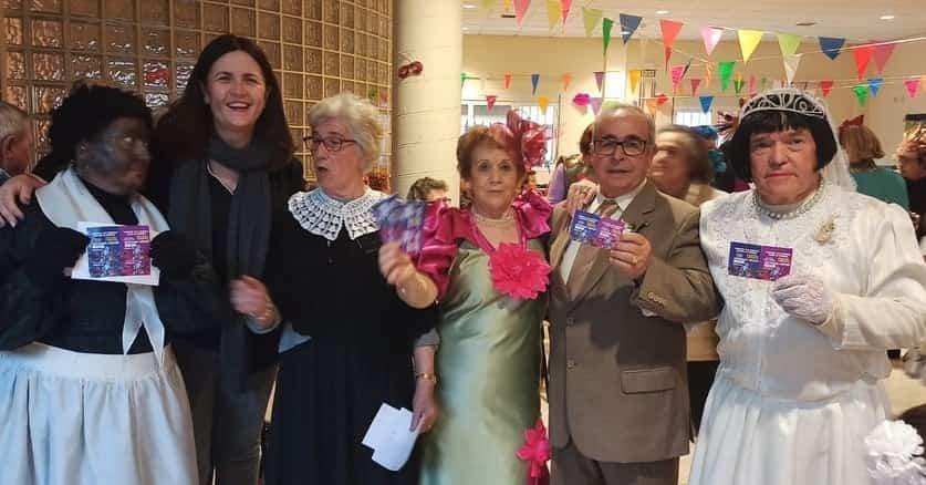 Los mayores también disfrutarón del Carnaval el pasado miércoles 15