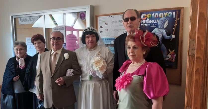 fiesta mayores carnaval 2020 herencia 6 - Los mayores también disfrutarón del Carnaval el pasado miércoles