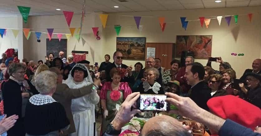 Los mayores también disfrutarón del Carnaval el pasado miércoles 21