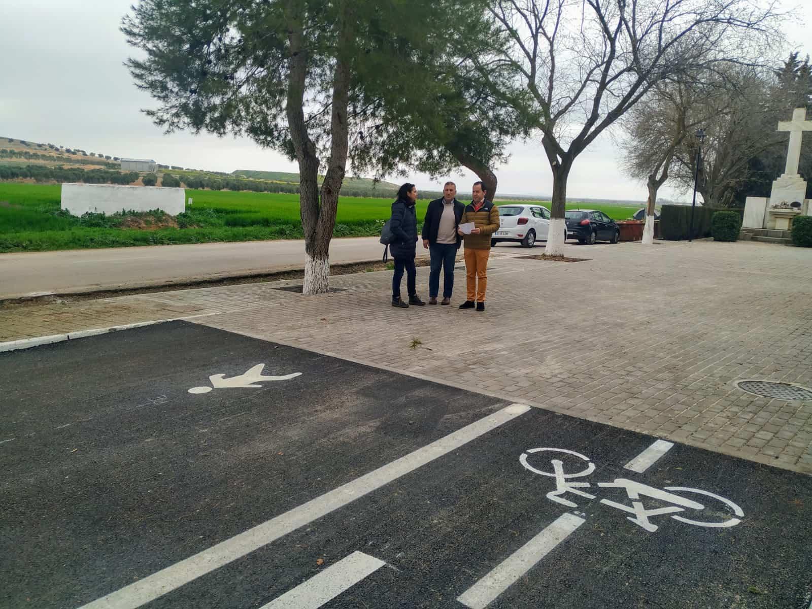 final camino cementerio herencia asfaltndo 2020 - Finalizan los trabajos de asfaltado del Camino del Cementerio de Herencia