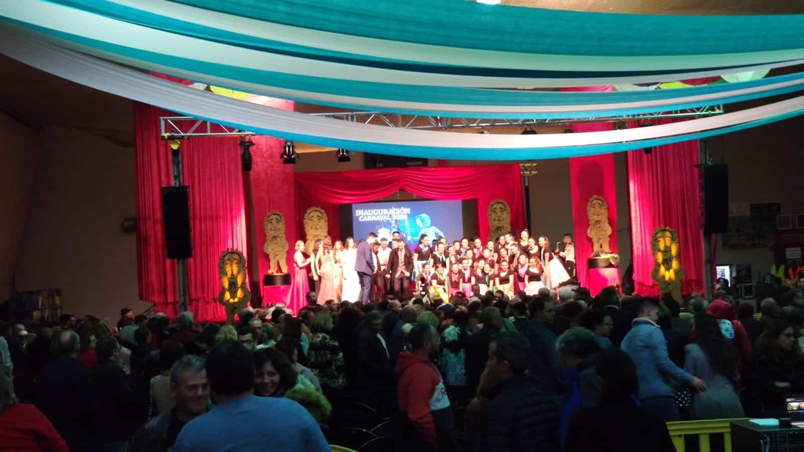 foto inauguracion carnaval herencia 2020 - Los galardonados con los Perlés de Honor 2020 del Carnaval de Herencia
