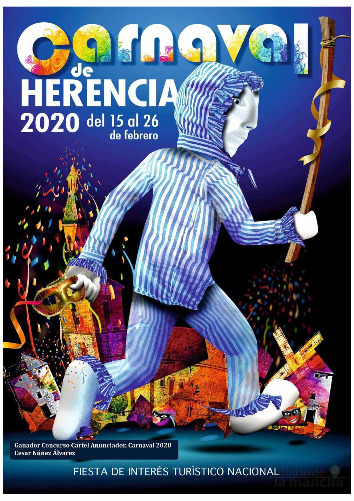 programacion carnaval 2020 herencia 1 - El actor Salva Reina pregonará un Carnaval de Herencia de Interés Turístico Nacional