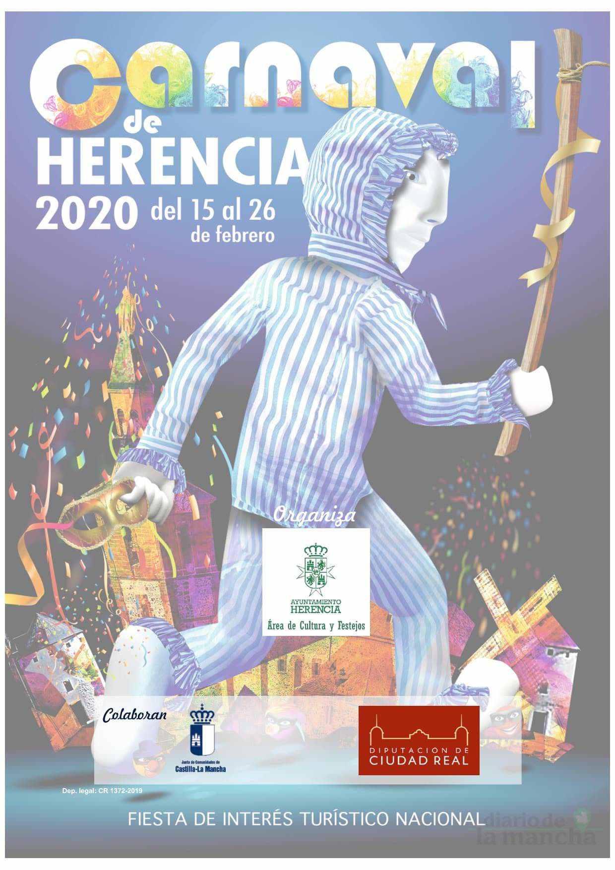programacion carnaval 2020 herencia 10 - El actor Salva Reina pregonará un Carnaval de Herencia de Interés Turístico Nacional