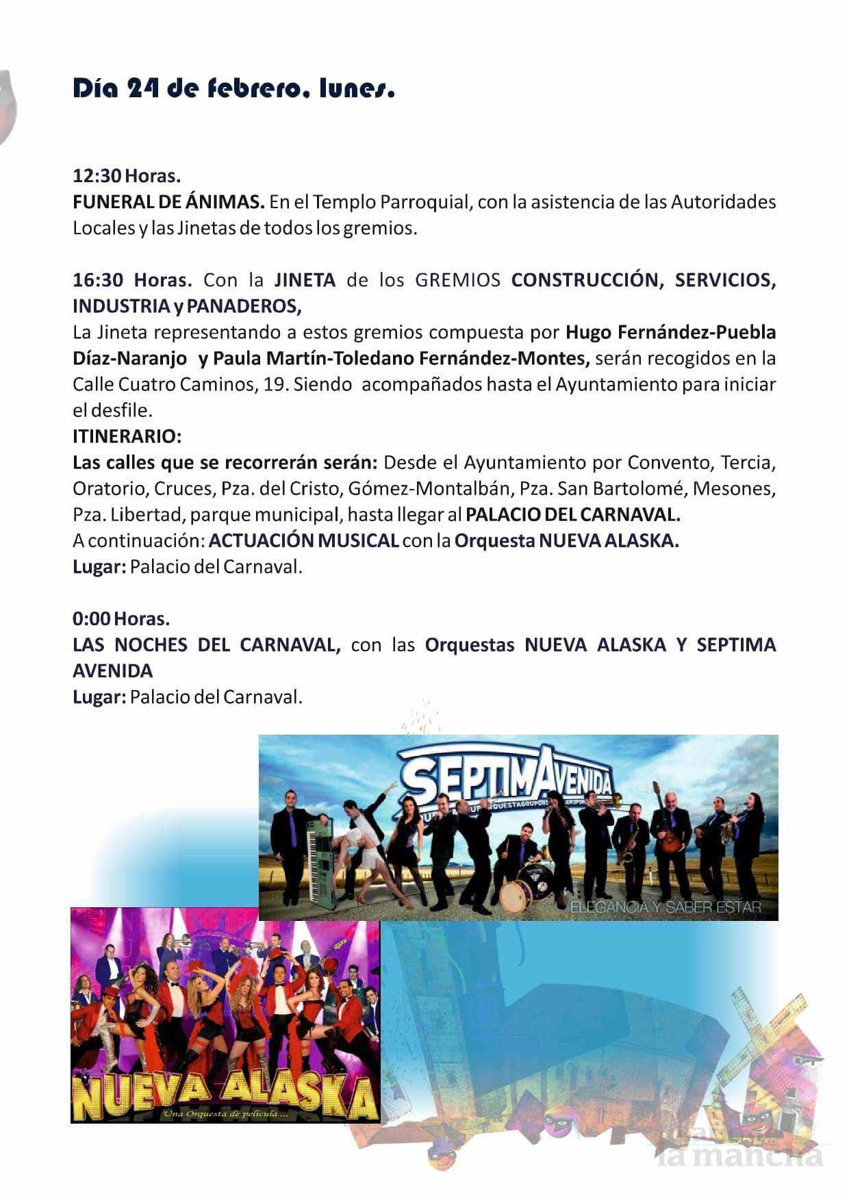 programacion carnaval 2020 herencia 7 - El actor Salva Reina pregonará un Carnaval de Herencia de Interés Turístico Nacional