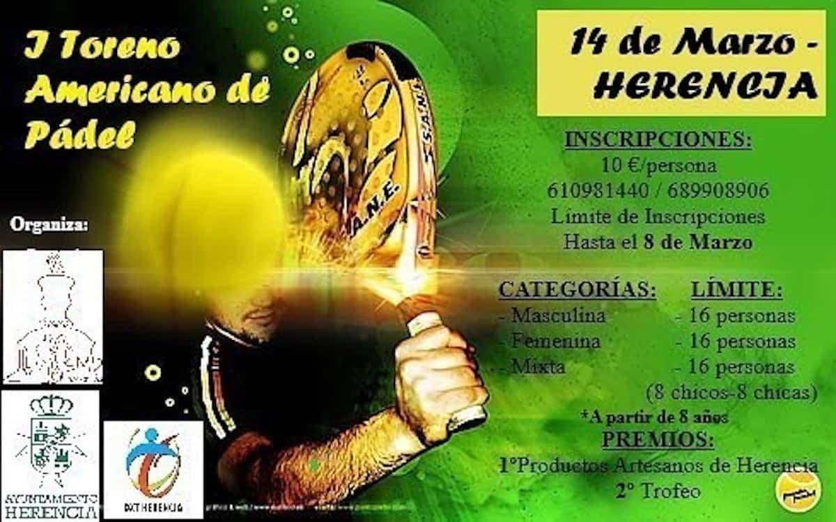 torneo padel americano herencia 2020 - I Torneo Americano de Pádel en Herencia