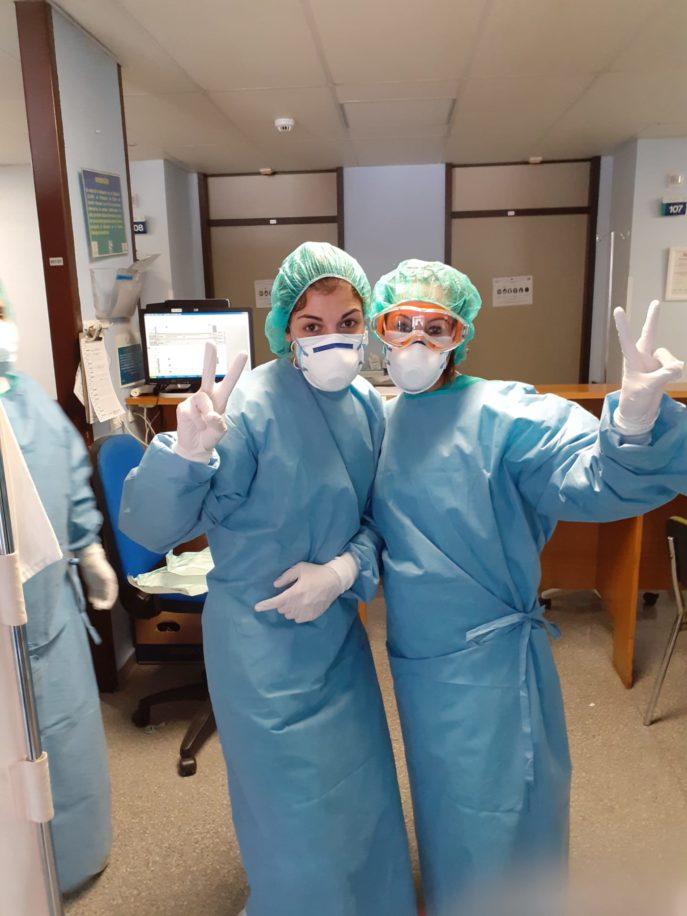 Enfermeras del hospital Mancha Centro 1 687x916 - El Fondo Solidario COVID-19 de Globalcaja apoya el proyecto Ánthropos