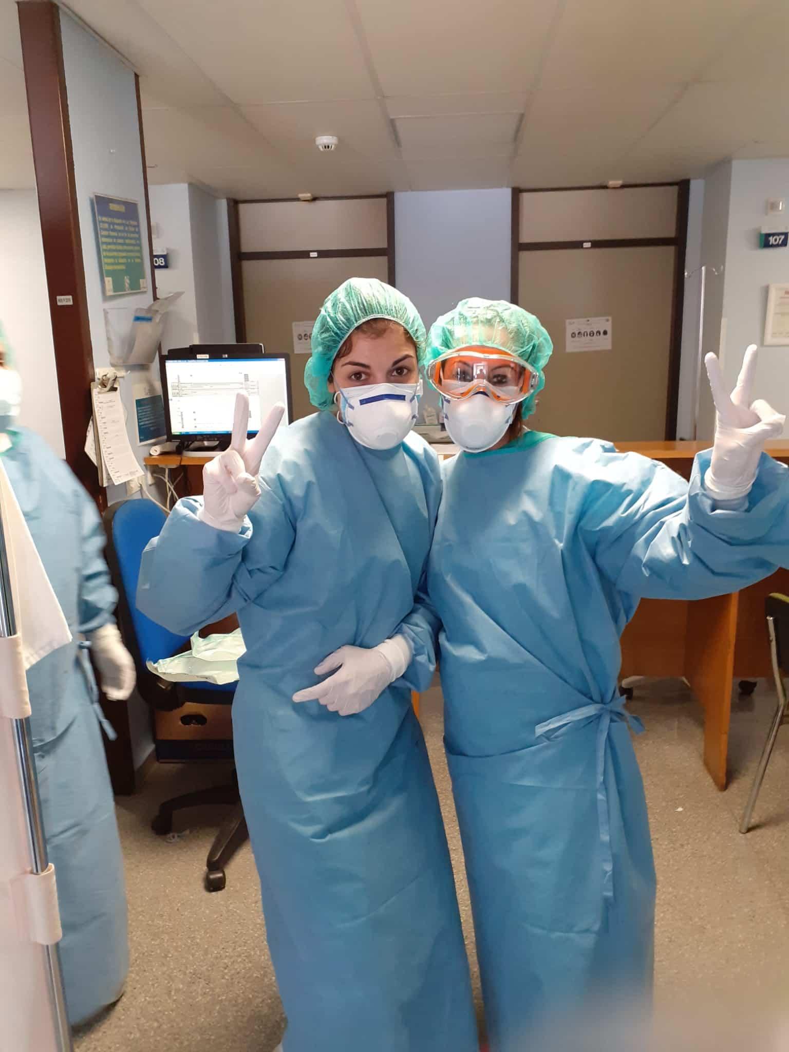 Enfermeras del hospital Mancha Centro 1 - Herencia adquiere diferente equipamiento para el hospital Mancha-Centro