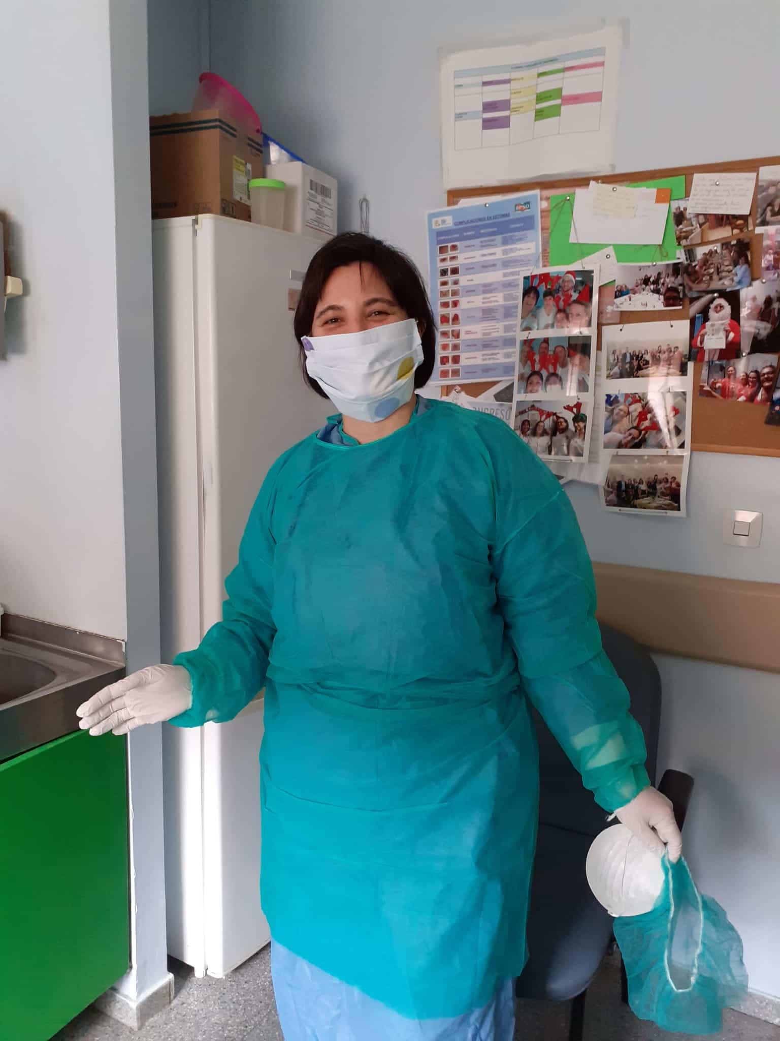 Enfermeras del hospital Mancha Centro - Herencia adquiere diferente equipamiento para el hospital Mancha-Centro