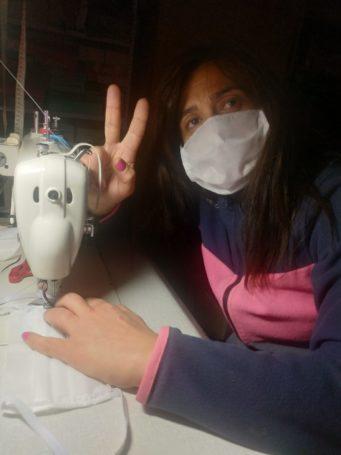 Grupo de costureras de Herencia 341x455 - Costureras de Herencia y Villafranca colaboran en la lucha contra la COVID-19