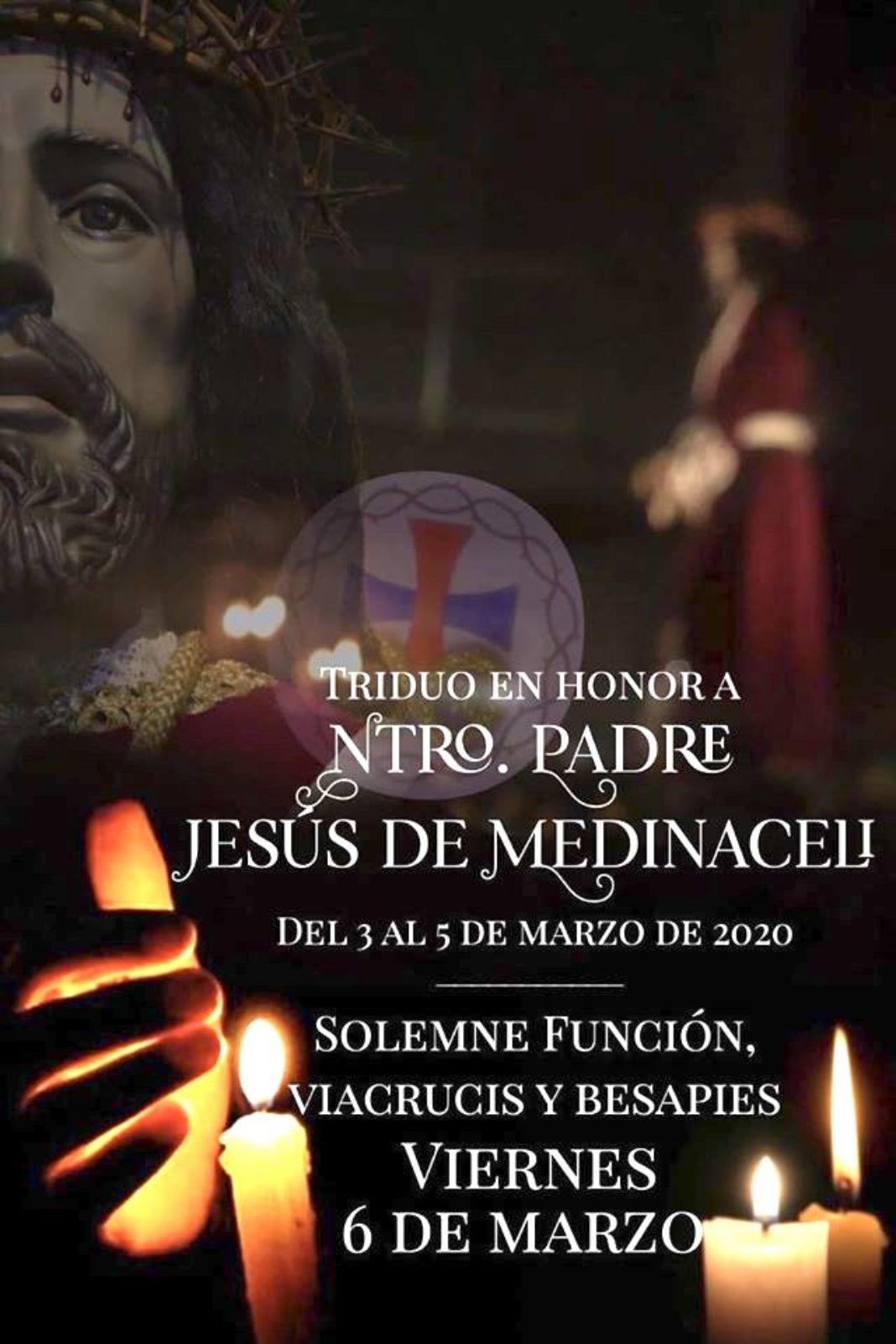 Medinaceli 1068x1602 - Actos en honor a Jesús de Medinaceli en Herencia