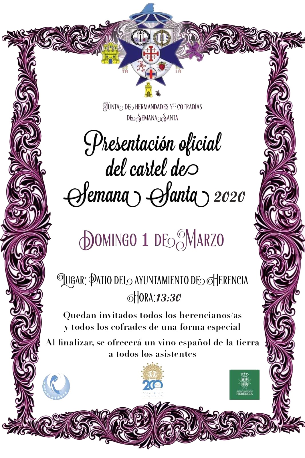 Presentación cartel Semana Santa - Presentación del cartel oficial de la Semana Santa de Herencia