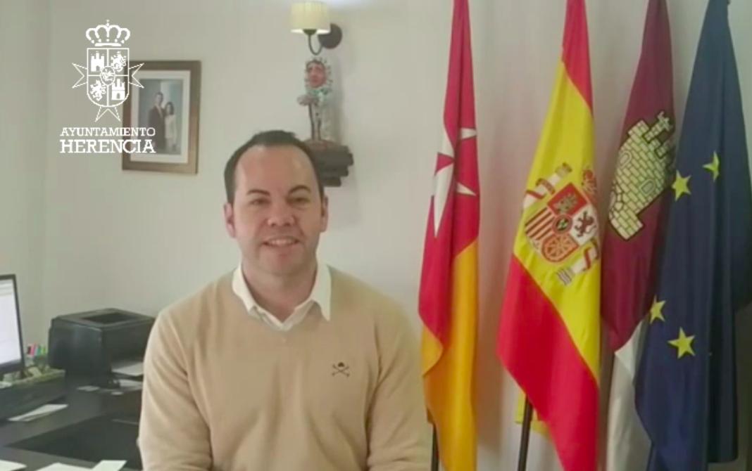 Sergio García Navas alcalde de Herencia 1068x670 - Sergio García-Navas informa sobre la situación del estado de alarma por Coronavirus en Herencia