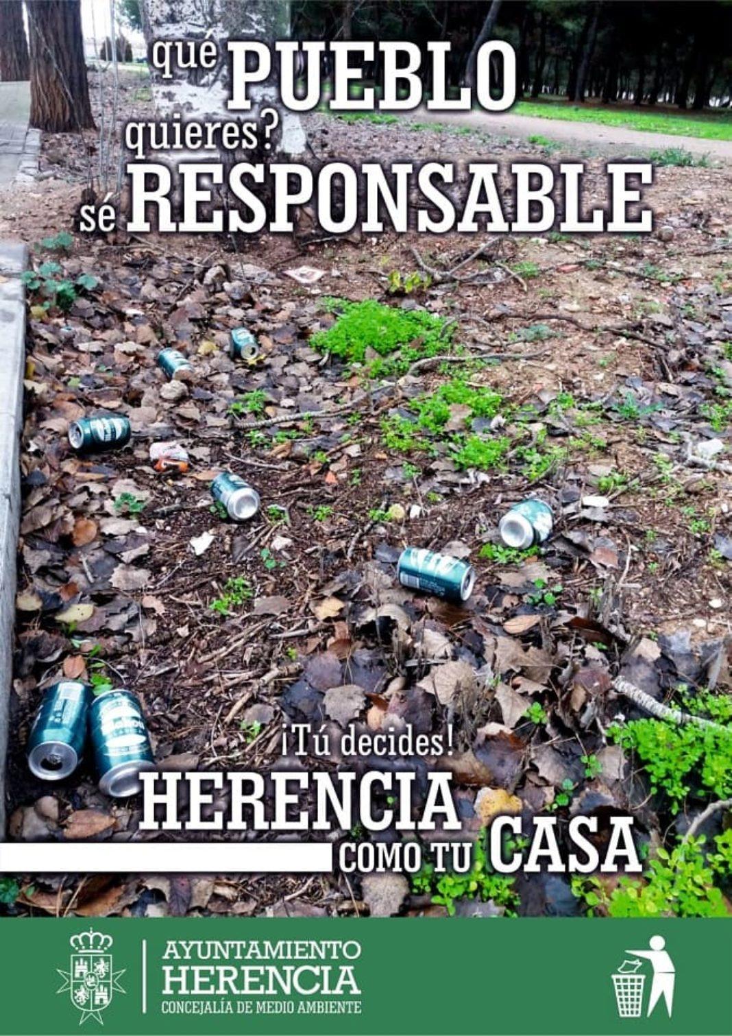 campana de limpieza herencia 1068x1511 - Herencia pone en marcha tres campañas de limpieza para concienciar y sensibilizar a la población