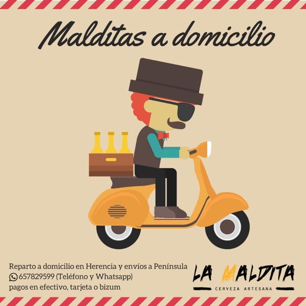envios La Maldita coronavirus 1068x1068 - Cervezas artesanas La Maldita a domicilio desde Herencia