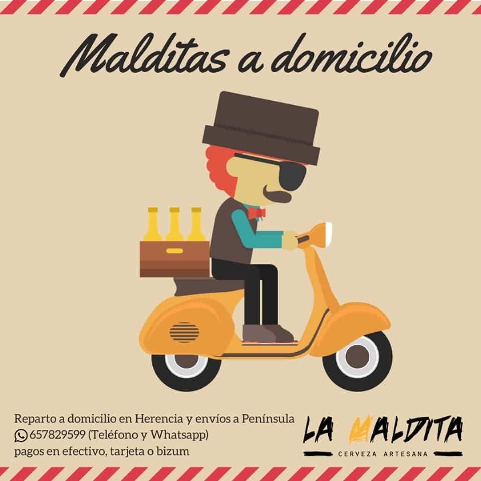 envios La Maldita coronavirus - Cervezas artesanas La Maldita a domicilio desde Herencia